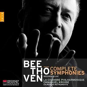 ベートーヴェン : 交響曲全集 (Beethoven : Complete Symphonies (recorded live) / La Chambre Philharmonique , Emmanuel Krivine (on period instruments)) (5CD BOX) [輸入盤]