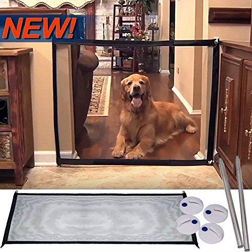 ペットフェンス 犬 猫用 安全ゲート プレイペン ベビーゲート 持ち運び便利 折りたたみ式 簡単組み立て 室内 侵入防止 取付幅72-180cm