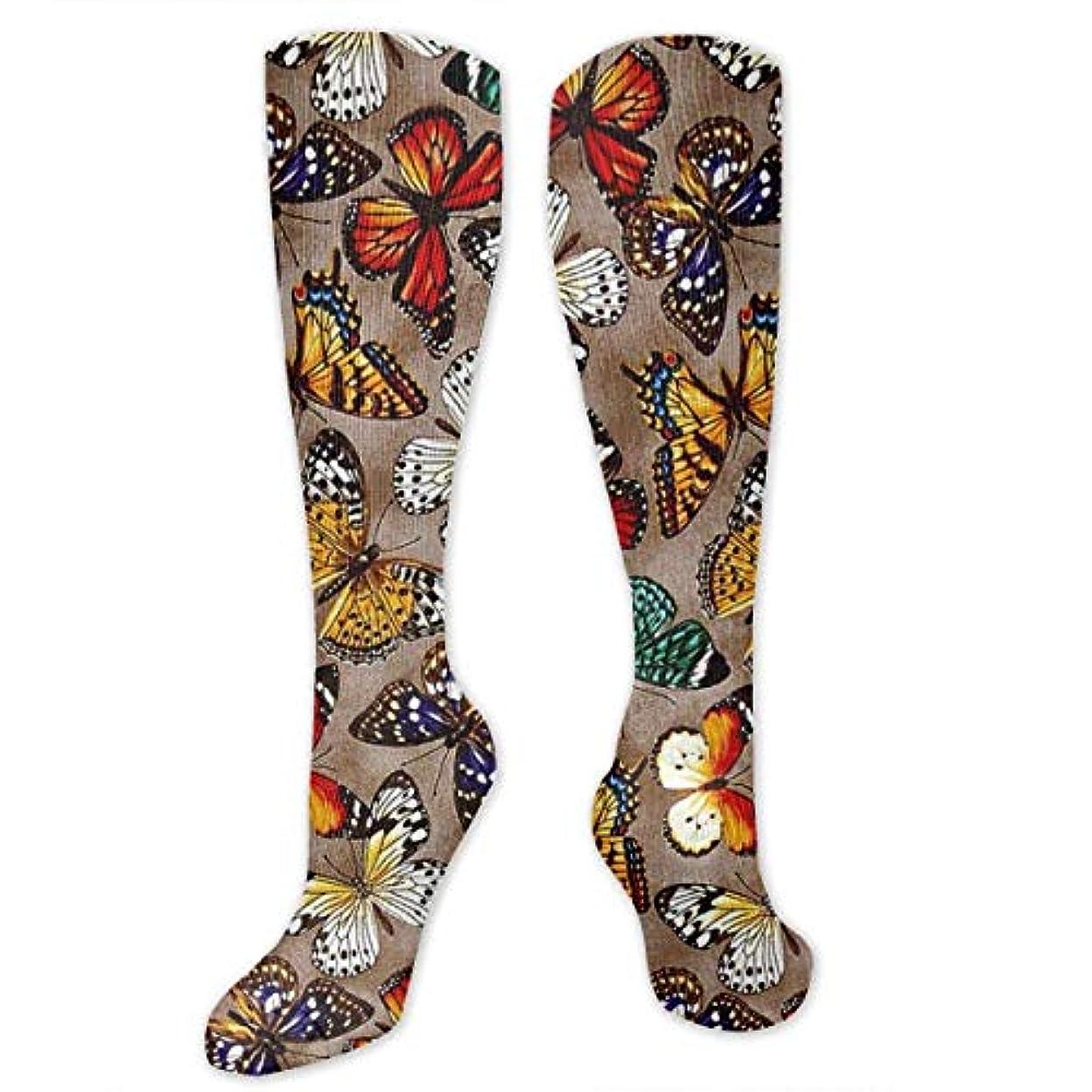 実用的エジプトおとなしい靴下,ストッキング,野生のジョーカー,実際,秋の本質,冬必須,サマーウェア&RBXAA Brown Flying Butterfly Socks Women's Winter Cotton Long Tube Socks...