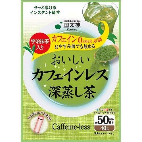 おいしいカフェインレス深蒸し茶(40g) 水・飲料 お茶 日本茶 [並行輸入品] k1-4971617015175-ah