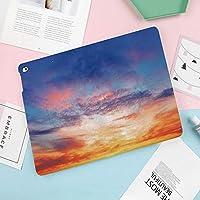 "Apple iPad Pro 10.5"" 2017 ケース 10.5"" New iPad Air (3rd) 2019 2017新10.5インチiPad Pro専用 超薄型軽量 スタンドスマートケース 自動スリープ/ウェイク機能付き日没時のカラフルな鮮やかな照らされた夕方の空"