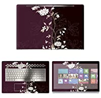 Decalrus - Protective Decal Floral Skin Sticker for HP ENVY 17M AE011DX (17.3 Screen) case cover wrap HPenvy17_ae011dx-54