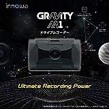 innowa GRAVITY M1 ドライブレコーダー スマート駐車監視 パワーナイトビジョン フルHD Wi-Fi GPS 160度広角 ノイズ対策 HDR 全国LED対応 前後動体検知 常時/衝撃録画 リアカメラ追加可能 64GBのSDカード付 2年保証