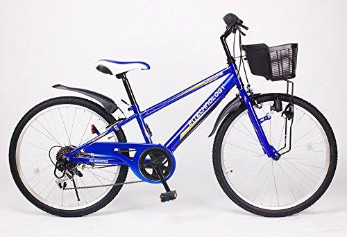21Technology 24インチ 子供用マウンテンバイク kd246 6段ギア付き (ブルー24)