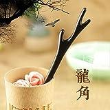 天然木 かんざし 黒壇 一本簪 シンプル 木製 一本 髪飾り 和装 (龍角)
