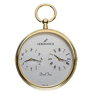 [アエロウォッチ]AEROWATCH 懐中時計 デュアルタイム SWISS MADE 05826 JA02 【正規輸入品】
