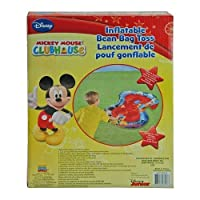 Inflatable Bean Bag Toss - Disney - Mickey Mouse Game in Color Box (Outdoor/Indoor Toys) by Disney