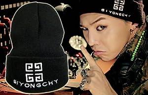 BIGBANG GIYONGCHY ジヨンシー G-DRAGON クォン ジヨン愛用 G ドラゴン 着用 タイプ 刺繍 ニット 帽 & ビッグバン 髑髏 バッチ 2点セット (ニット&バッチ)
