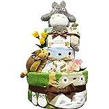 おむつケーキ [ 男の子 : 女の子/となりのトトロ : ジブリ / 3段 ] パンパースM33枚 (1歳の誕生日プレゼントに大人気)4101 ダイパーケーキ ギフト ハーフバースデー にもおすすめ