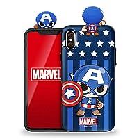 [Marvel Figure Mirror card Bumper マーベル アベンジャーズ フィギュア バンパーケース] スマホケース iPhone11 iPhone11Pro iPhone11ProMax/iPhone11 Pro Max 11Pro ケース iPhone 11 Pro 11Pro Max ケース/アイフォン 11 Pro 11Pro Max/6.1インチ/アイフォン 11 Pro/5.8インチ/アイフォン 11 Pro Max/6.5インチ/アイフォン11 Pro Max アイフォン11Pro カバー ケース アイアンマン キャプテンアメリカ スパイダーマン ブラックパンサー キャラクターケース カバー ケース (【iphone 11】, 【キャプテンアメリカ】) [並行輸入品]