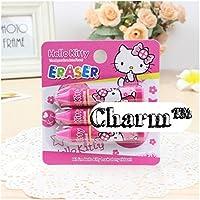 Set of 3 Hello KittyクレヨンErasersパーティーFavorsとポイントby CharmTM