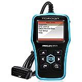 Topdon Plus OBD2 故障診断機 自動車 DTC参照+O2センサ+EVAP+On-Board++VIN読む 車 診断機 スキャンツール