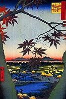 Maple Trees at Mama Tekona神社リンクブリッジ歌川広重ポスター24x 36インチ