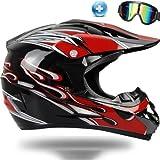 バイクヘルメット オフロード バイク用品 軽量ヘルメット ゴーグル付きYH-255 PSC付き S