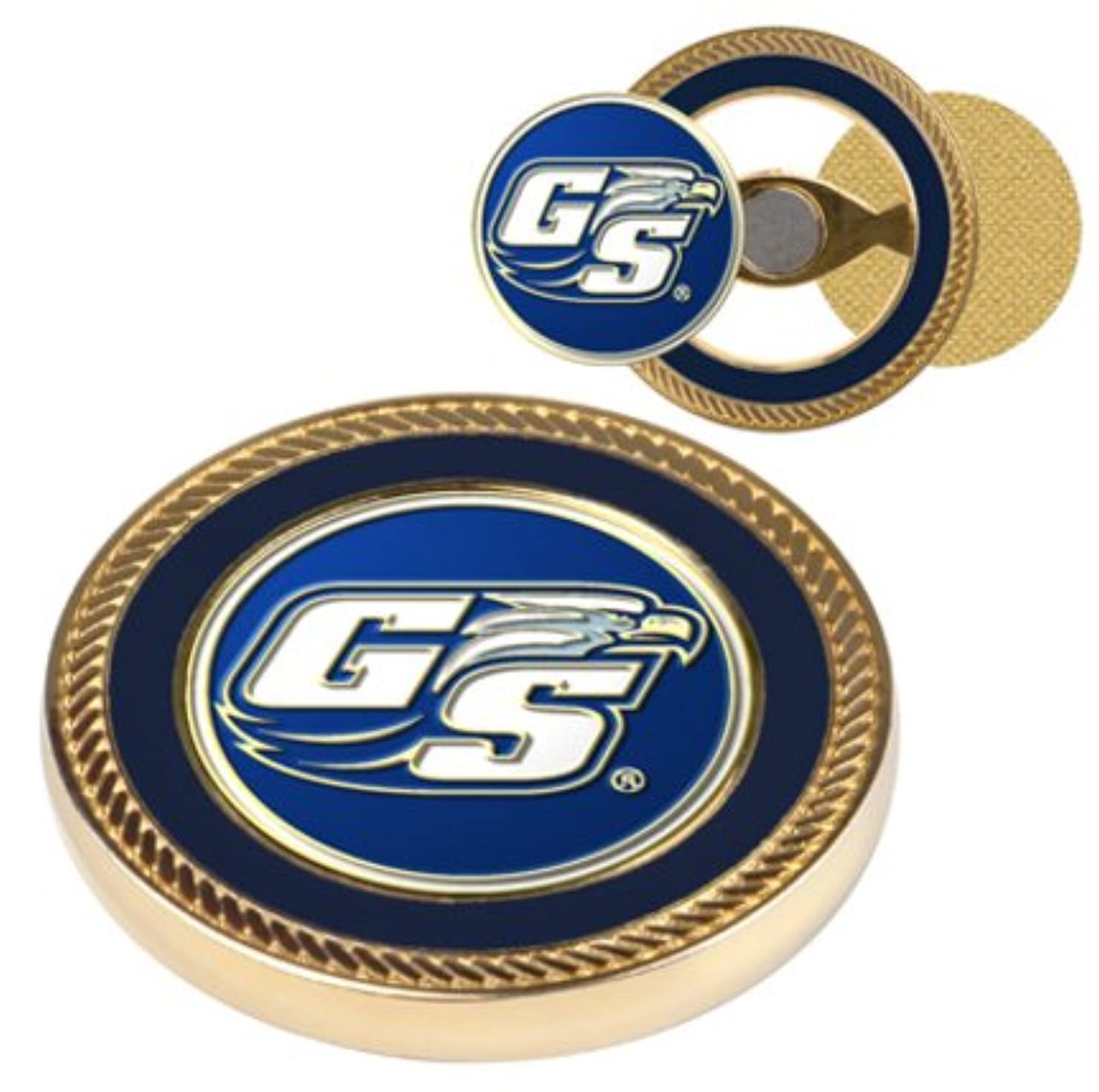 不健全詳細な枕Georgia Southern Eagles Challenge Coin withボールマーカー( Set of 2 )