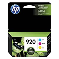 HP 920 Cyan Magenta & Yellow Original Ink Cartridges 3 Cartridges (CH634AN CH635AN CH636AN) 【Creative Arts】 [並行輸入品]