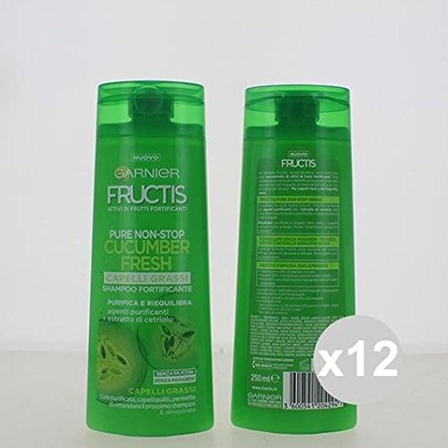 12 Fructisシャンプー250脂肪髪シャンプーとコンディショナー髪製品のセット