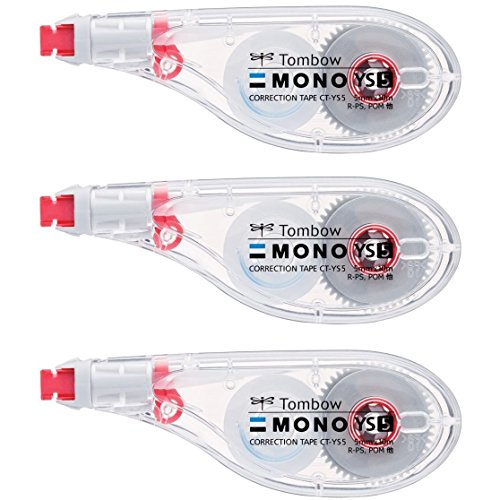 トンボ鉛筆 修正テープ MONO モノYS 5mm 3個 KCA-326