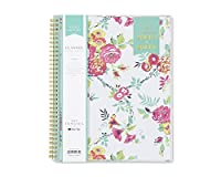 Day Designer for Blue Sky 2018-2019 Academic Year Weekly & Monthly Planner Flexible Cover Twin-Wire Binding 8.5 x 11 Peyton White Design [並行輸入品]