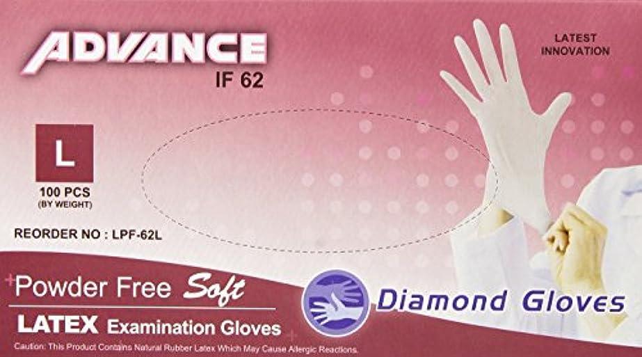 代表オペレーターオペレーターDiamond Gloves Advance Powder-Free Soft Latex Examination Gloves, 5.9 Mil, Large, 100 Count by Diamond Gloves