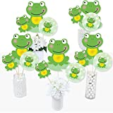 Froggy Frog - ベビーシャワー 誕生日パーティー センターピーススティック - テーブルトッパー - 15個セット