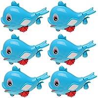 Baosity 全6点 子ども 浮遊イルカ 水スプレー バスおもちゃ プラスチック製 ブルー