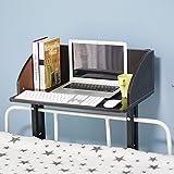 Soges ベッドテーブル サイドテーブル ノートパソコンスタンド 収納棚 付き ウッドカラーブラック