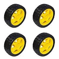 タイヤホイール ホイール 車輪 PVCラバー 交換部品 スマートカー ロボット モデルパーツ用
