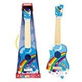 ミニギター HAOUN キッズギター 4弦ミニギター ヴィンテージスタイル キッズ楽器 楽器玩具 知育玩具 教育玩具 - ブルー