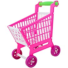MagiDeal Miniature Supermarket Shopping Hand Trolley Cart For Kids Role Play Toy