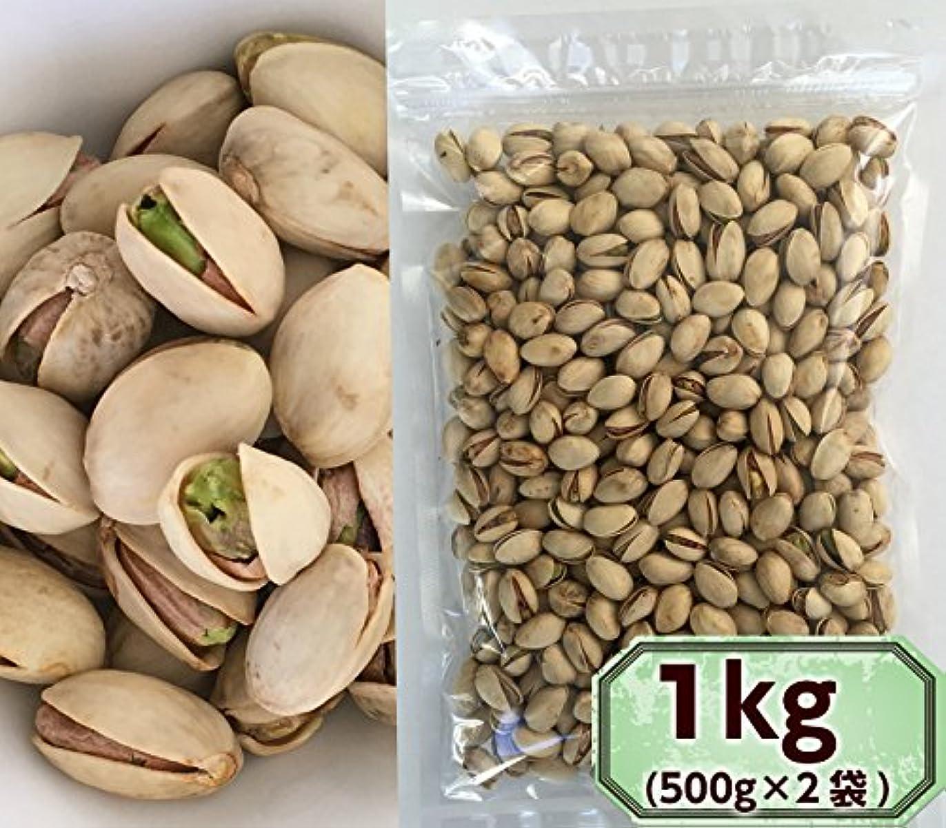 ジャンル石化する爵素焼きピスタチオ 1kg 無塩 無添加 殻付き (500g×2袋)