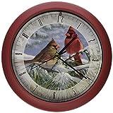 Mark Feldstein & Associates Wild Wings Winter Light Marc Hanson Winter Clock 8 Red [並行輸入品]
