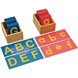 Elite Montessori Lower and Capital Case Sandpaper Letters with Boxes