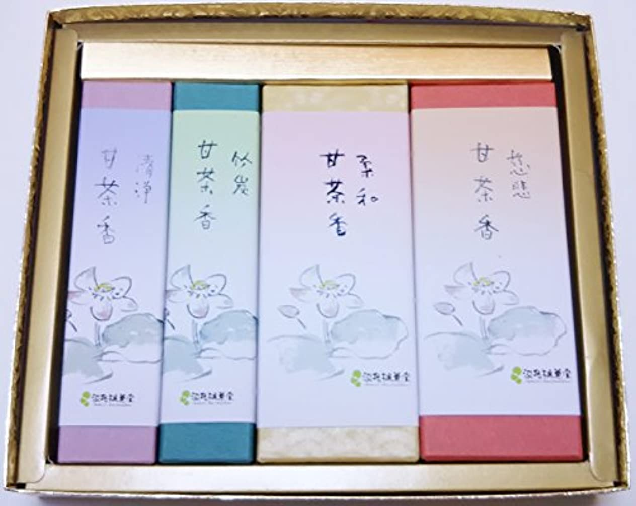 氏画像コントロール淡路梅薫堂 の 淡路島 神仏お好み甘茶の贈答用お線香ギフトセット #k106