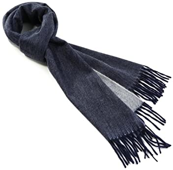 Cashmere Reversible Scarf 1436-699-1391: Navy