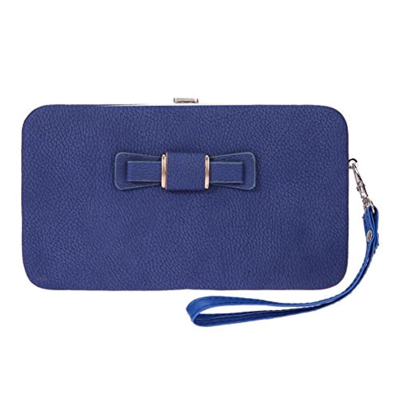 bestjpshop 磁気 バックル ちょう結び 財布 小銭入れ コインケース カードケース 手乗り財布 小さい財布 人気 かわいい 財布 カード収納