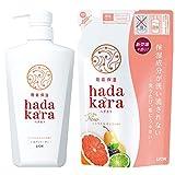 hadakara(ハダカラ)ボディソープ シトラス&カシスの香り (本体500ml+つめかえ360ml)