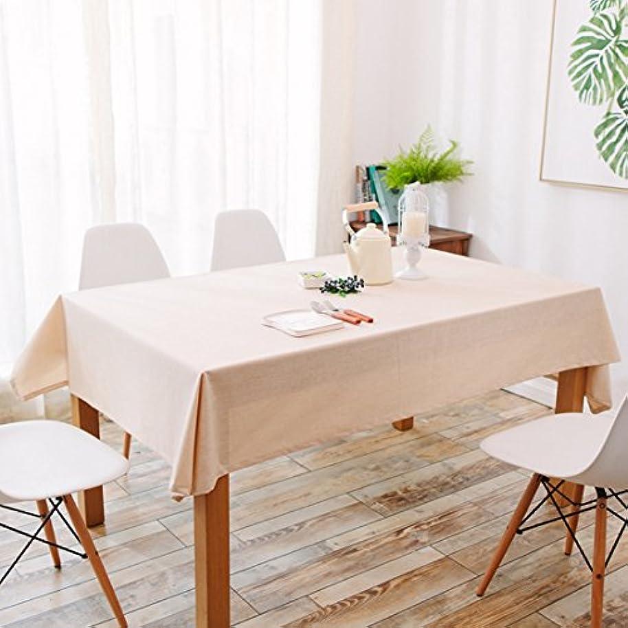 ハチ気になる平行テーブルクロス 無地 北欧 テーブルカバー 正方形 耐熱 撥水 厚手 おしゃれ 拭きやすい マルチカバー 綿麻 田園風 シンプル ナチュラル インテリア 雑貨 多用途 ベージュ 110×110cm