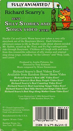 Richard Scarry - Best Silly Stories & Songs Video Ever [VHS] [Import]