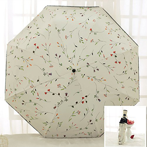 VIOMO 折り畳み傘 ワンタッチ 自動開閉 晴雨兼用 日傘 UVカット 紫外線遮蔽率99% 高密度NC布 耐風撥水 収納ポーチ付き レディース 女性用 可愛い