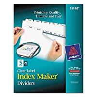 Avery 11446 Index Maker Laser Punched 5-Tabs 25 ST/BX 8-1/2x11CL [並行輸入品]