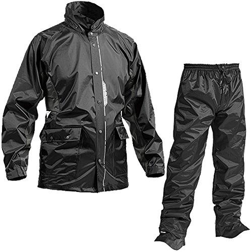 耐久防水レインスーツ ブラック L AS-5800