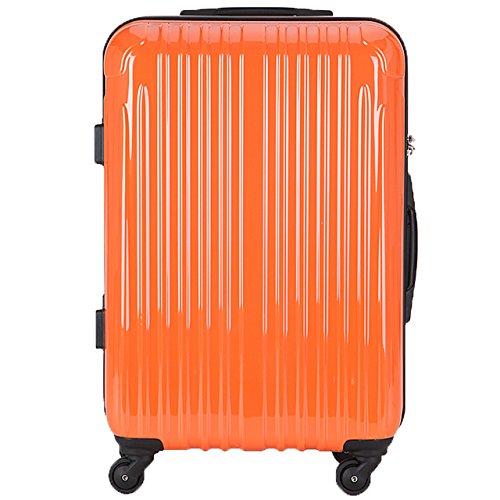 TY001小型(ラッキーパンダ) Luckypanda スーツケース 超軽量 機内持込 小型 TSAロック ファスナー 2年修理保証 TY001 ハード キャリーバッグ キャリーケース キャリーバック トランクケース 旅行カバン バック 軽量 S 機内持ち込み Suitcase Luggage amazon(Sサイズ(2~3日の旅行向け), オレンジ)