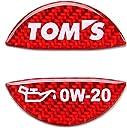 TOMS(トムス) オイルフィラーキャップガーニッシュ レッド 0W-20 12181-T0020-R1