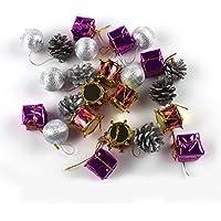 Mikey StoreクリスマスXmasツリーボールBaubleホームパーティーHanging Ornament Decor M レッド MS-1