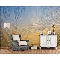 Wuyyii 幾何学模様の冬のガラス3D壁紙、リビングルームのソファテレビ壁寝室キッチン壁ペーパー家の装飾カスタム壁画-400X280Cm