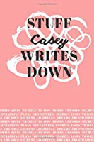 Stuff Casey Writes Down: Personalized Journal / Notebook (6 x 9 inch) with 110 wide ruled pages inside [Soft Coral]
