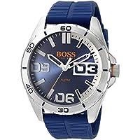 91c1c3ca49b HUGO BOSS Orange Men s 1513286 berlin Analog Display Quartz Blue Watch