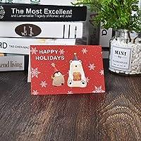 AMO1 個メリークリスマス小さなカードミニクリスマスグリーティングカード新年はがきギフトカードクリスマスパーティークリスマス