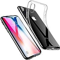 ESR iPhone X ケース クリア iPhone X ソフトカバー 透明TPU [ガラス面へのスクラッチ防止][落下防止][黄変防止][薄型 軽量][QI充電対応] iPhone X 専用カバー(iPhoneX,クリア)